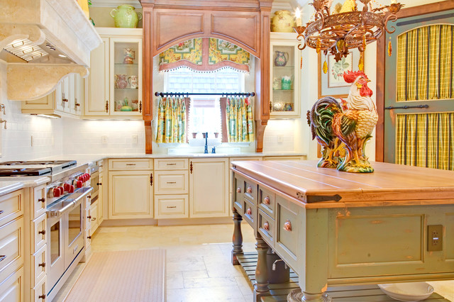 french country kitchen window treatments photo - 8