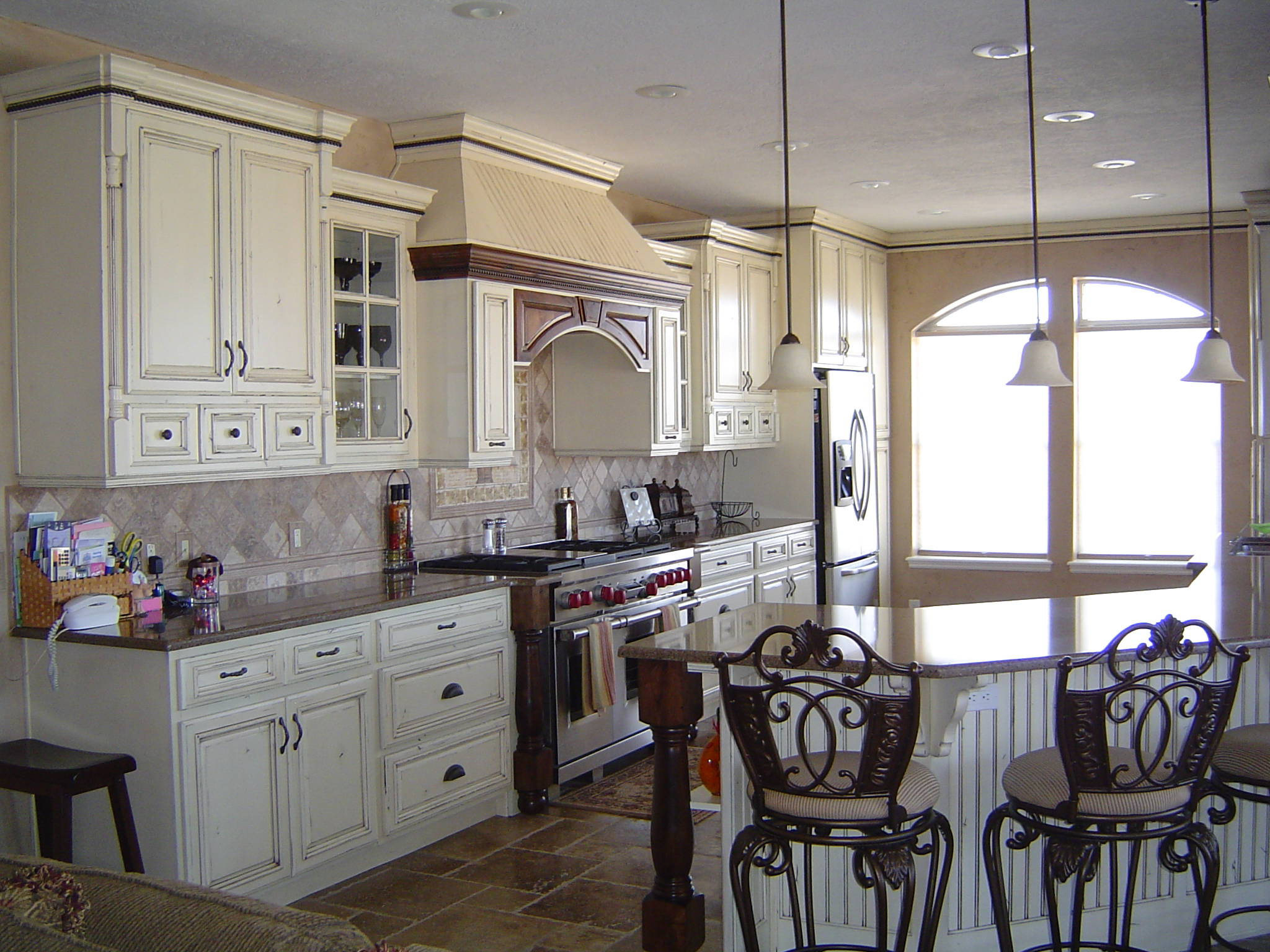 french country kitchen with white cabinets photo - 9