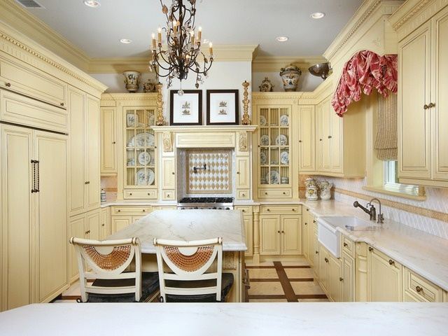 french country kitchen yellow photo - 8