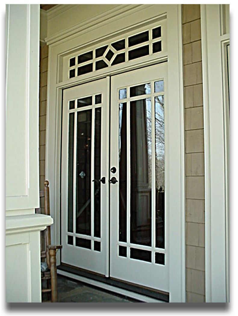 french doors exterior white photo - 4