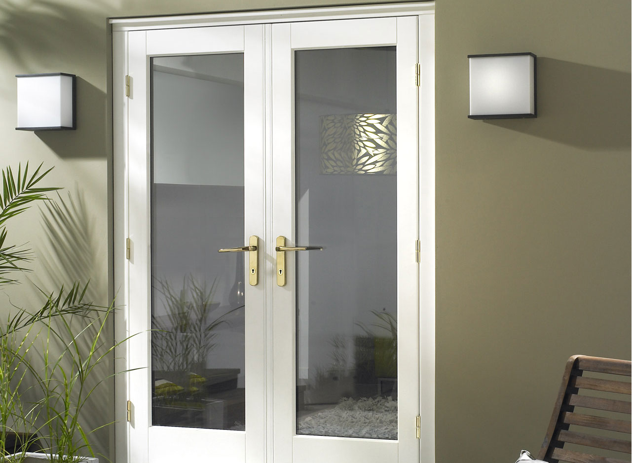 french doors exterior white photo - 7