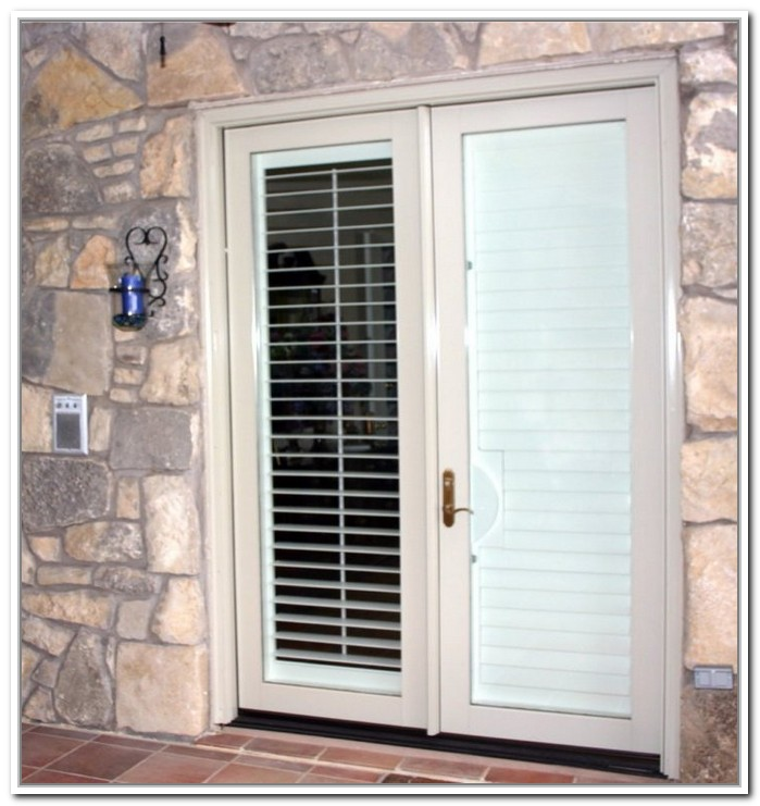 french doors exterior with blinds photo - 10