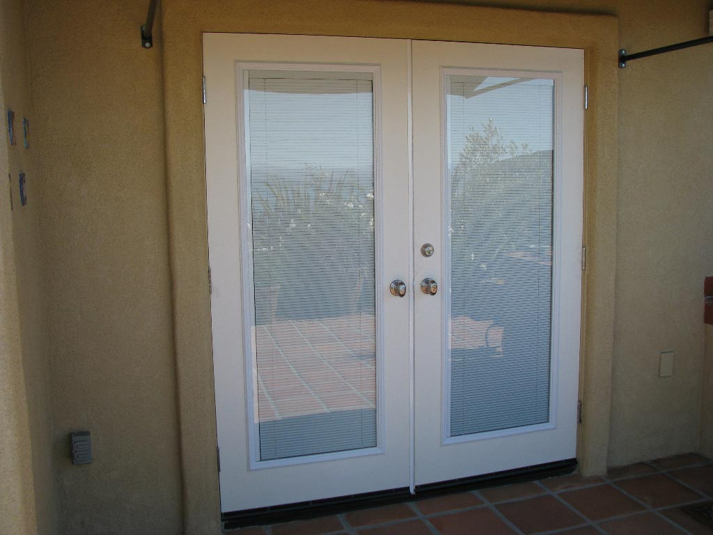 french doors exterior with blinds photo - 2