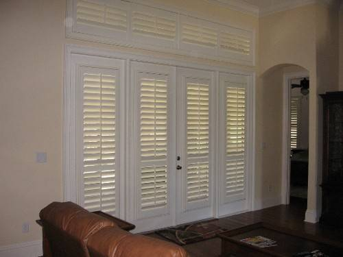 french doors exterior with blinds photo - 3