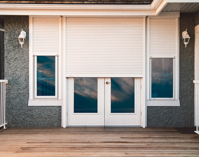 french doors exterior with blinds photo - 4