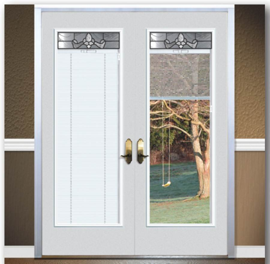 french doors exterior with blinds photo - 5