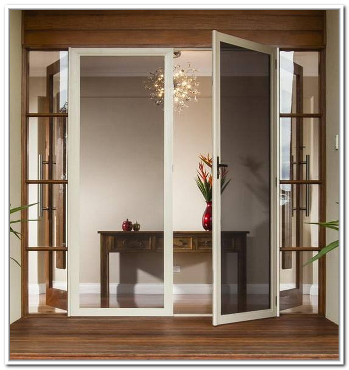 french doors exterior with blinds photo - 6