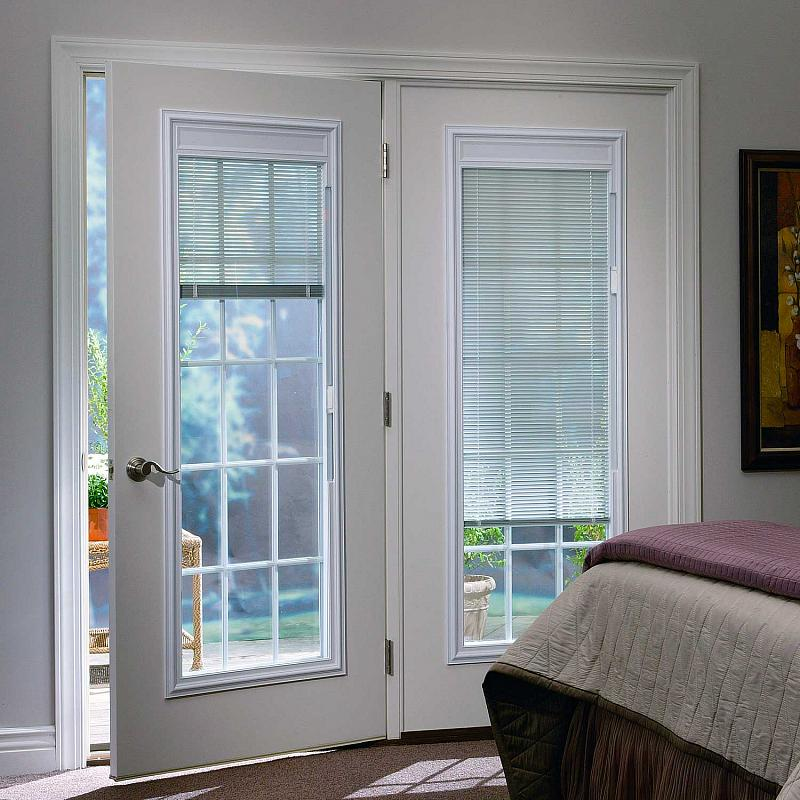 french doors exterior with blinds photo - 7