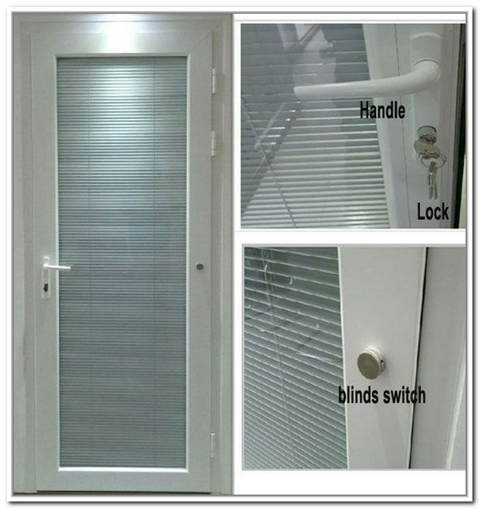 french doors exterior with blinds photo - 8
