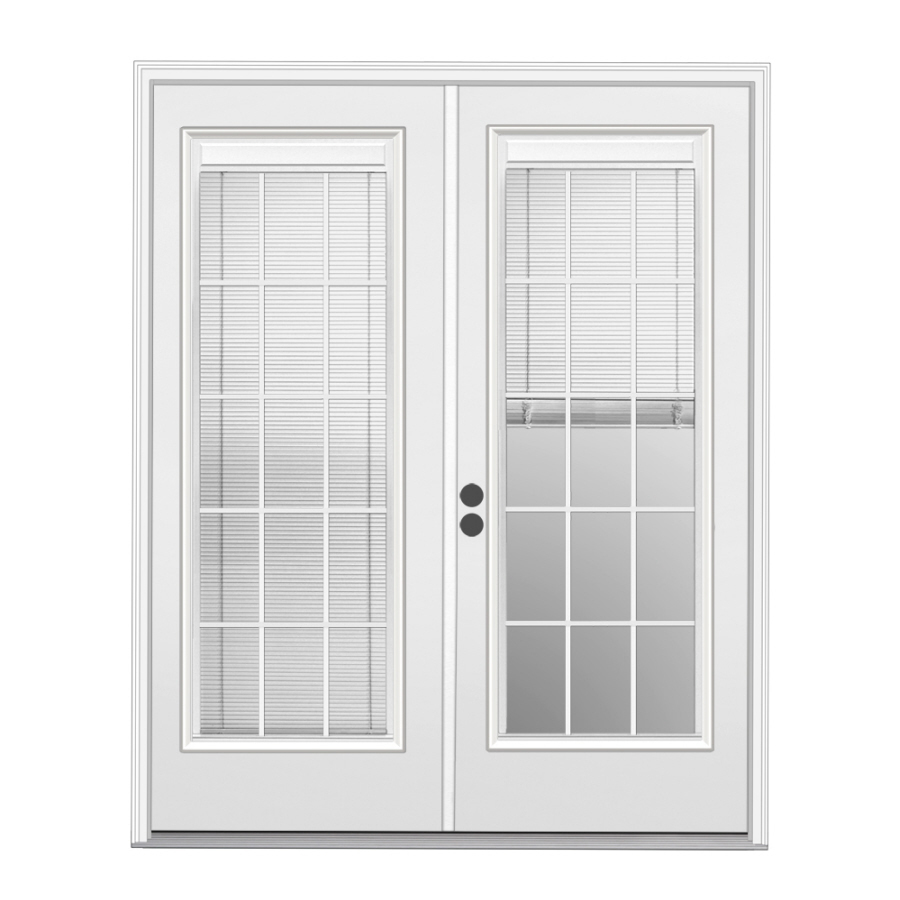french doors exterior with blinds photo - 9