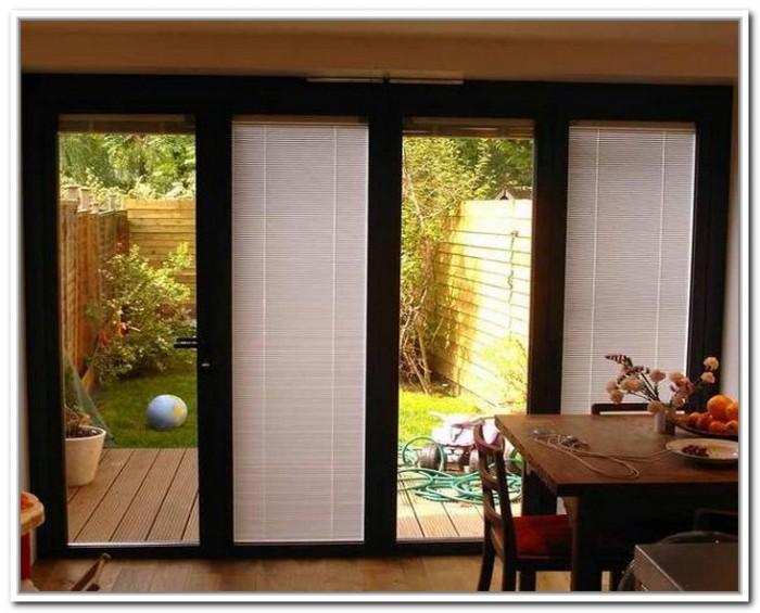 French Doors Exterior With Built In Blinds Hawk Haven