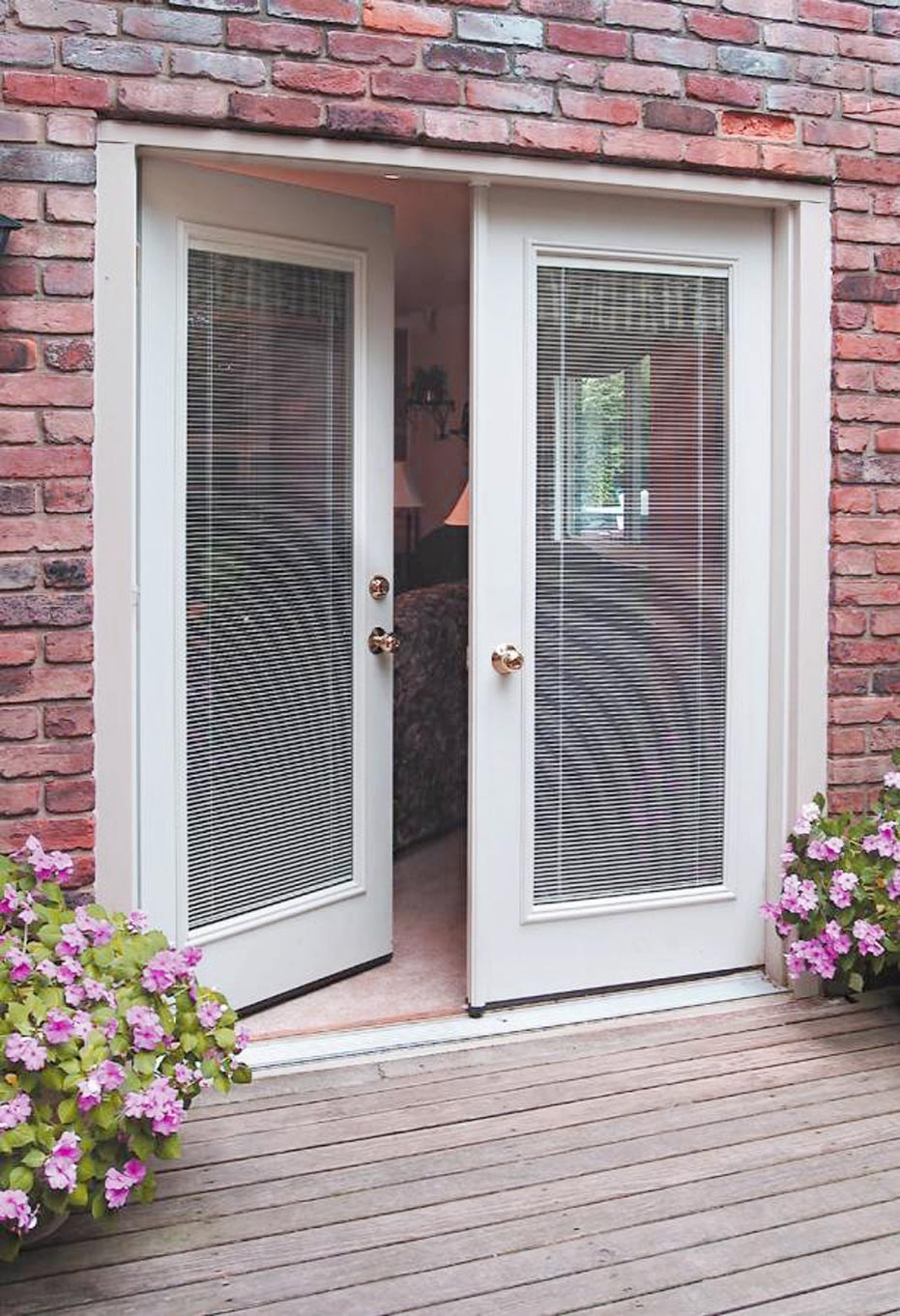 French Doors Exterior With Blinds Gallery - doors design modern
