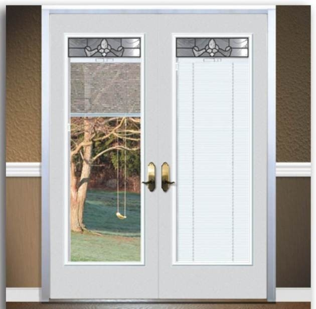 French Doors Exterior With Built In Blinds Photo   9