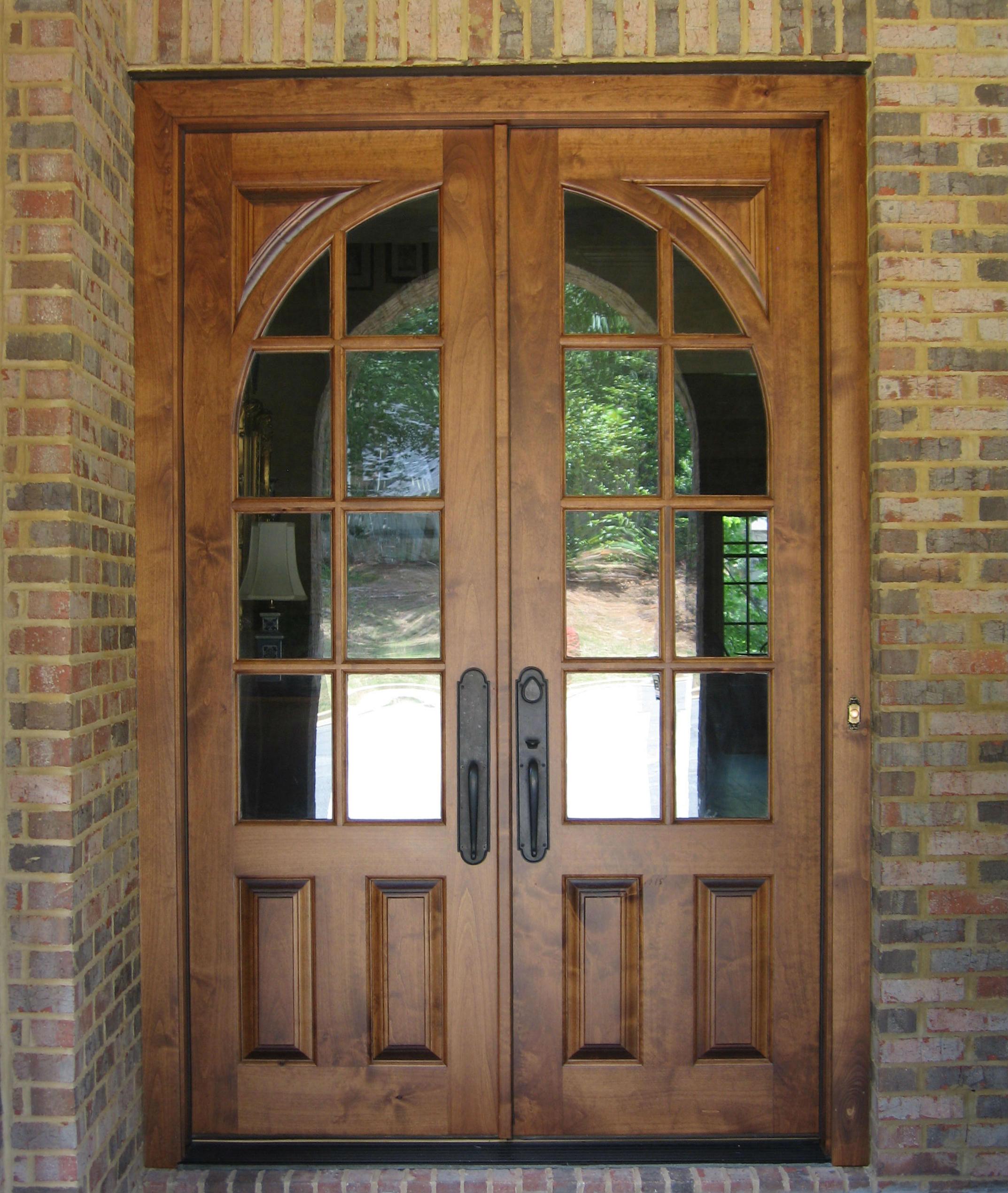 french doors exterior wood photo - 2