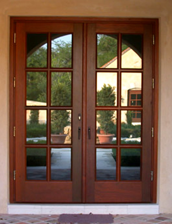 french doors exterior wood photo - 3