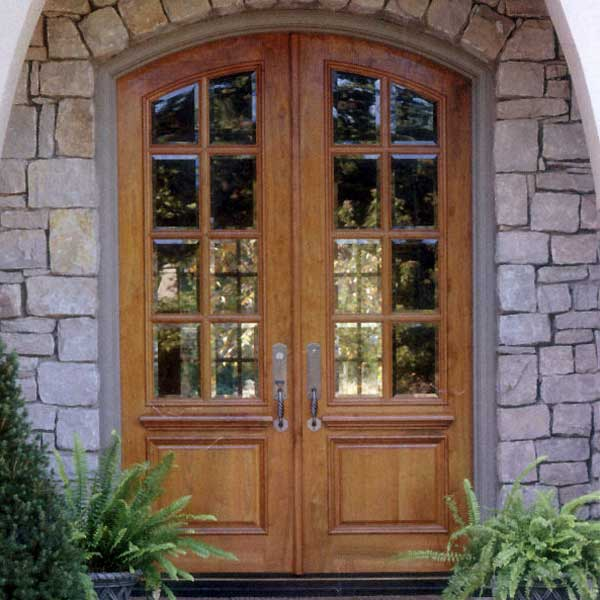 french doors exterior wood photo - 5