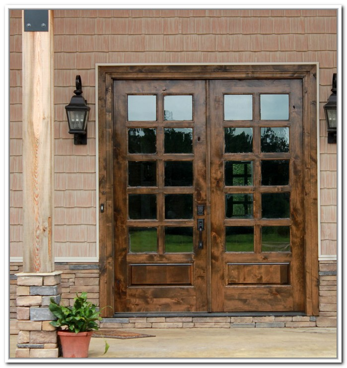french doors exterior wood photo - 6