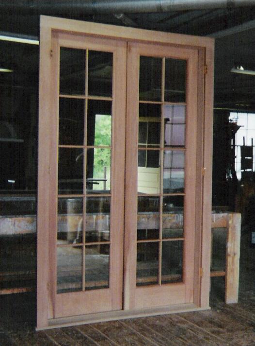 french doors exterior wood photo - 7