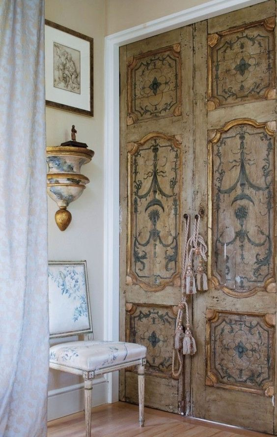 french doors interior antique photo - 6
