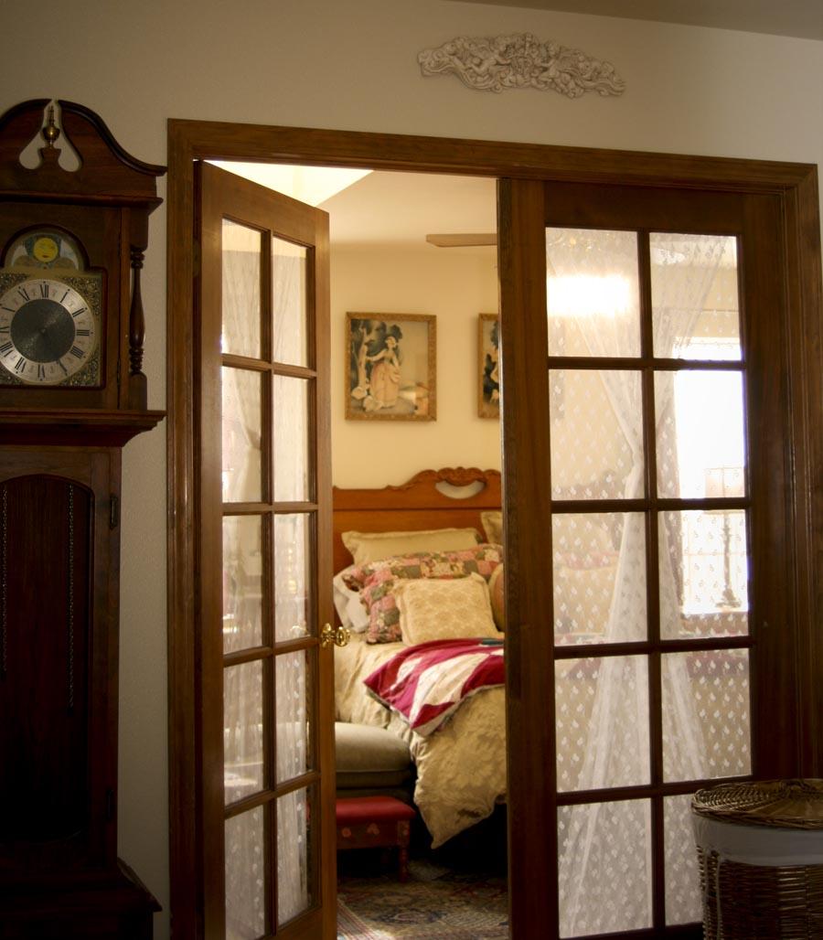 french doors interior bedroom photo - 2
