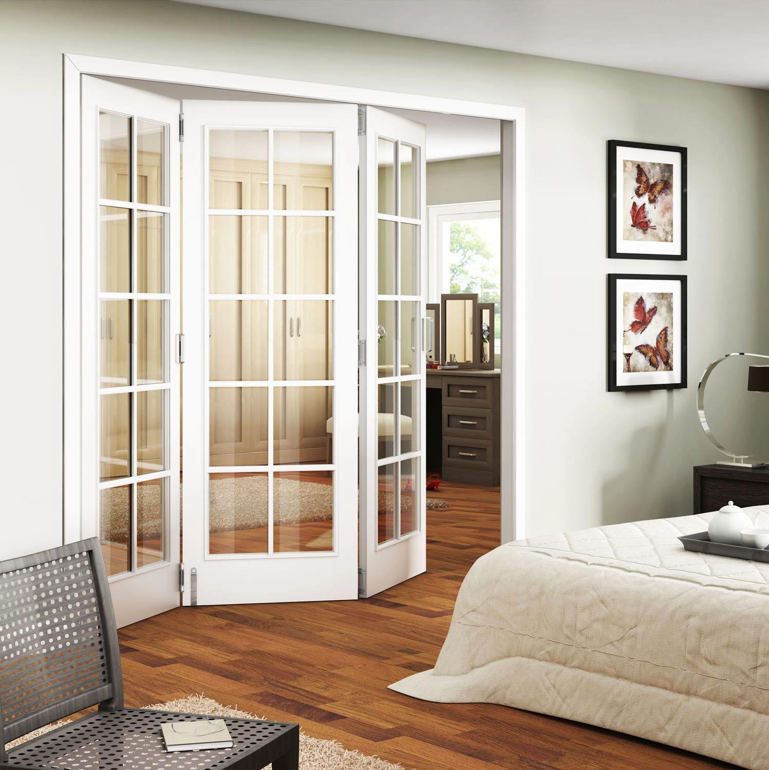 french doors interior bedroom photo - 3
