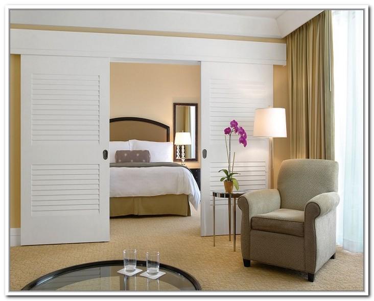 french doors interior bedroom photo - 6