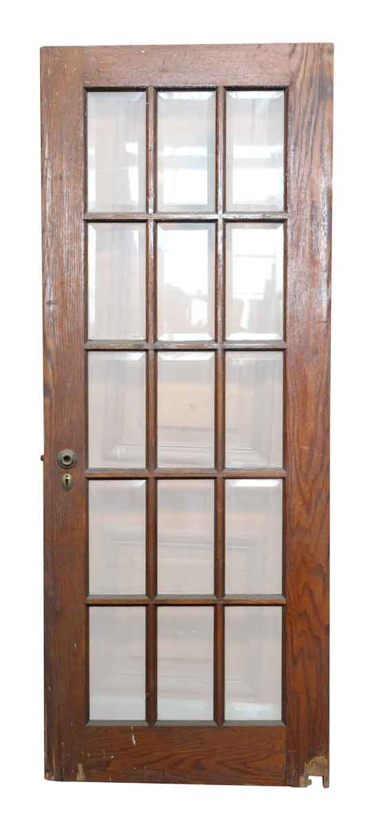 french doors interior beveled glass photo - 10