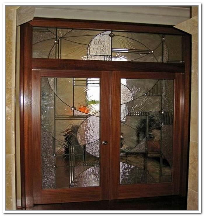 french doors interior beveled glass photo - 3
