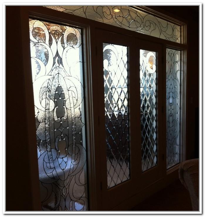 french doors interior beveled glass photo - 6