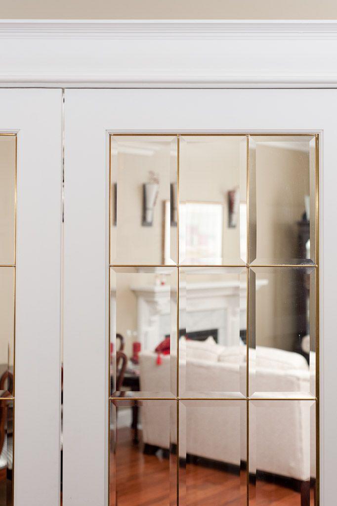 french doors interior beveled glass photo - 7