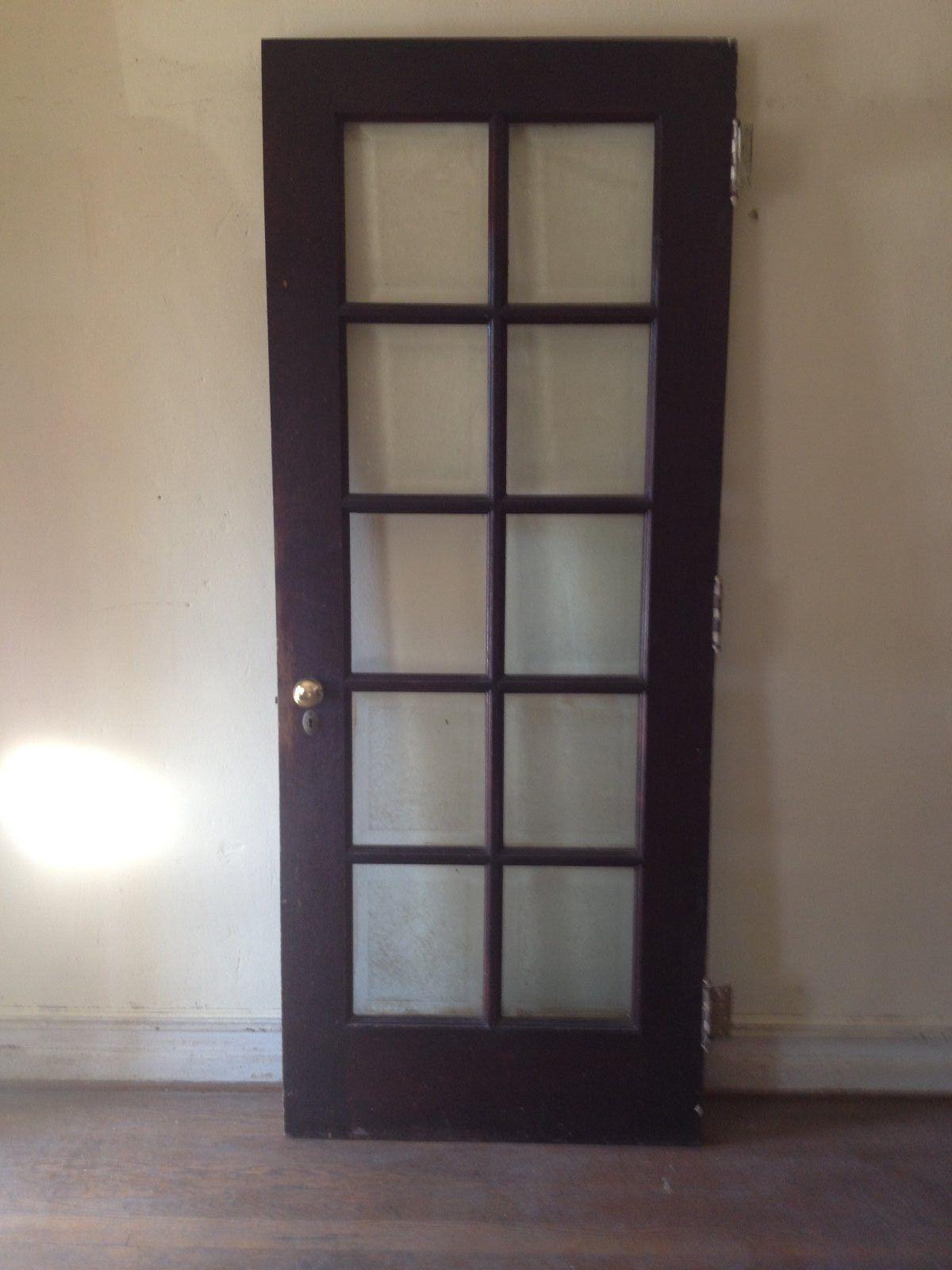 french doors interior beveled glass photo - 8