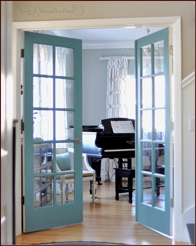 French Doors Interior Diy Photo   8