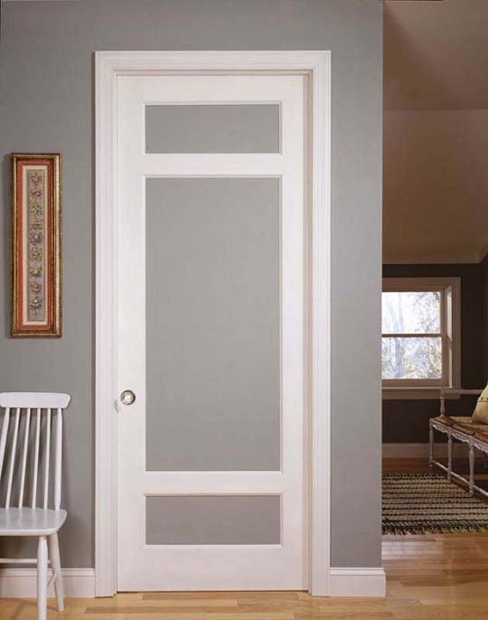 french doors interior frosted glass photo - 1