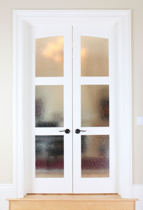 French doors interior frosted glass | Hawk Haven