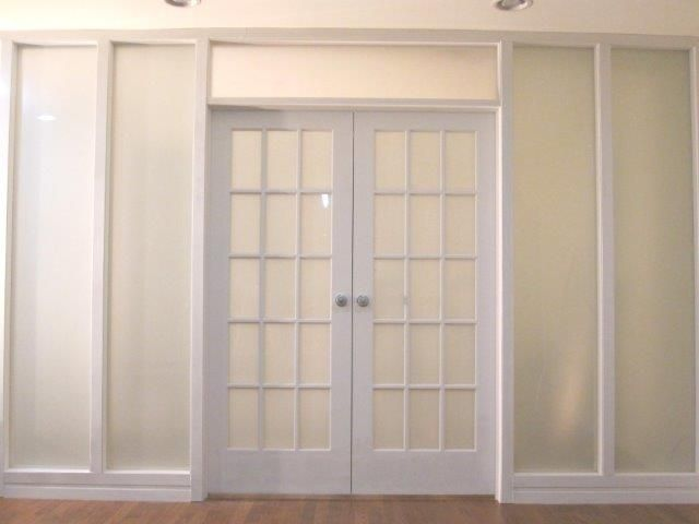 french doors interior frosted glass photo - 6