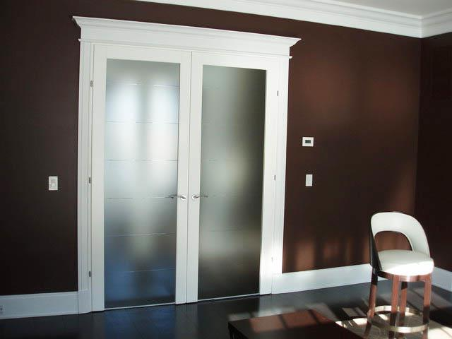 french doors interior frosted glass photo - 7