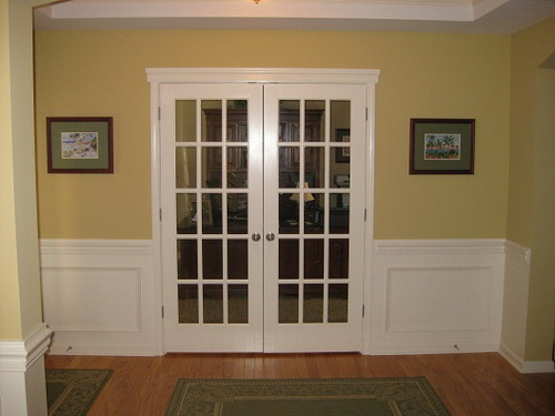 french doors interior office photo - 2