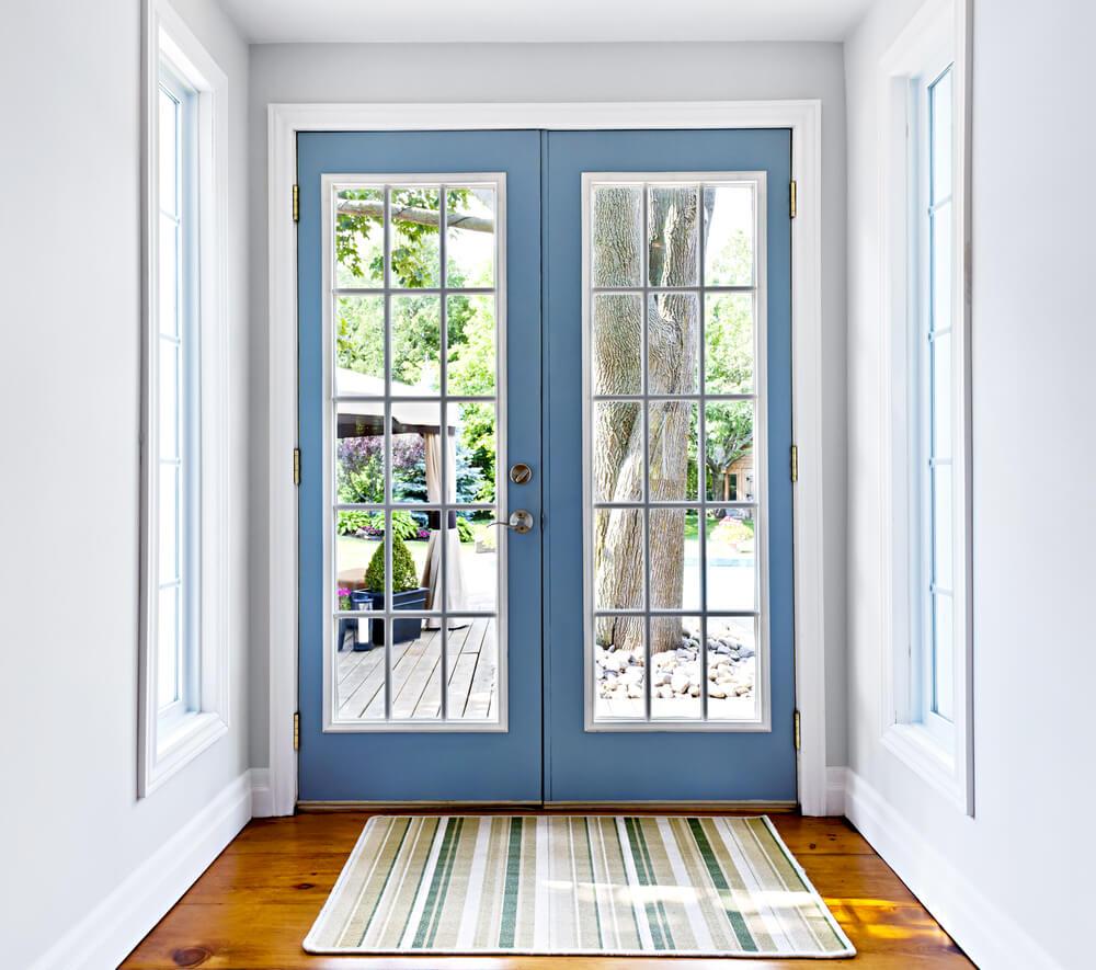 French double doors patio | Hawk Haven