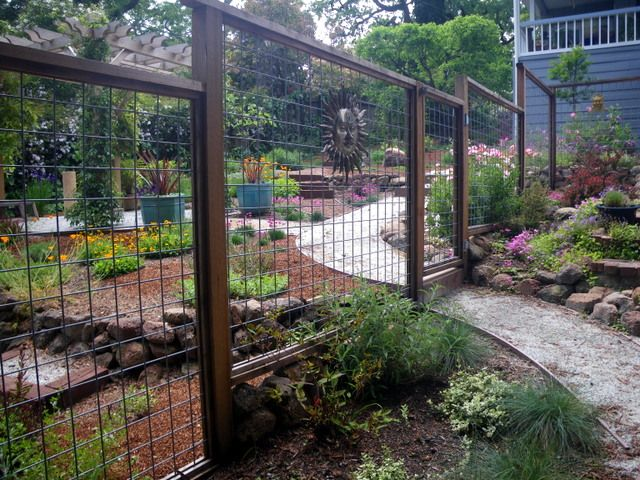 garden deer fencing ideas photo - 8