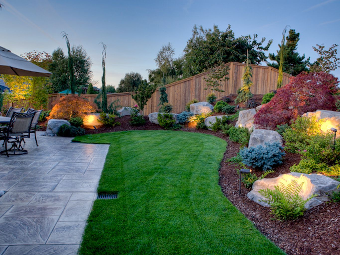 garden design for large areas photo - 2