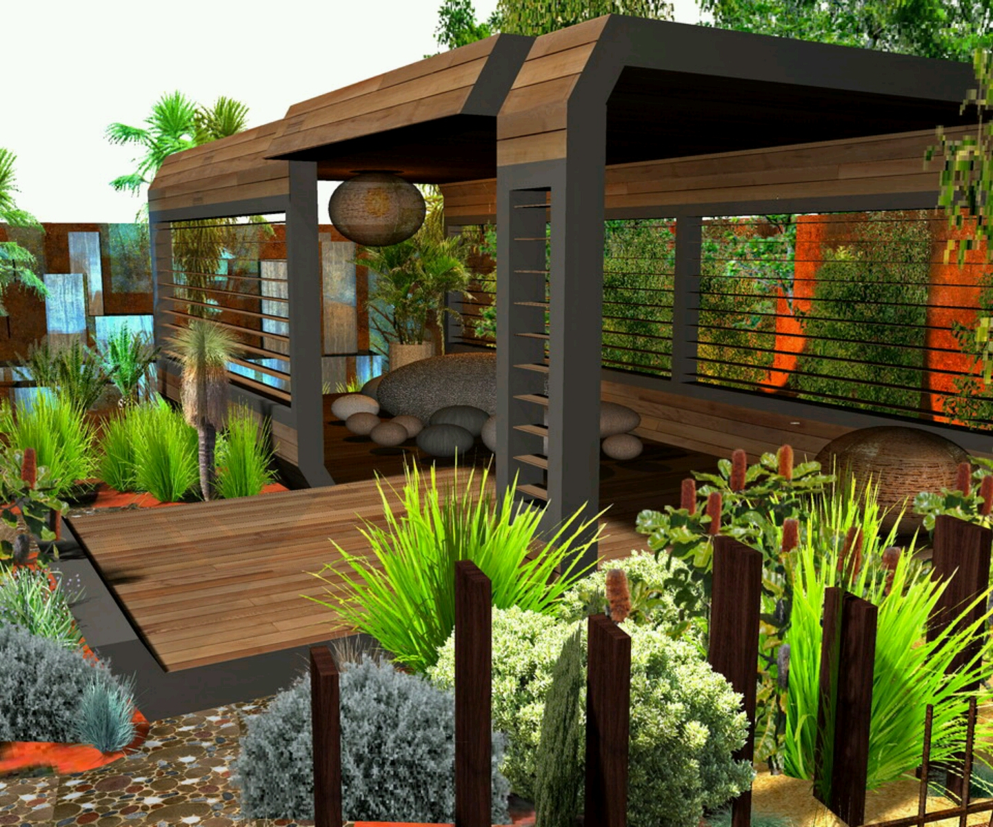 garden design ideas for new houses photo - 6