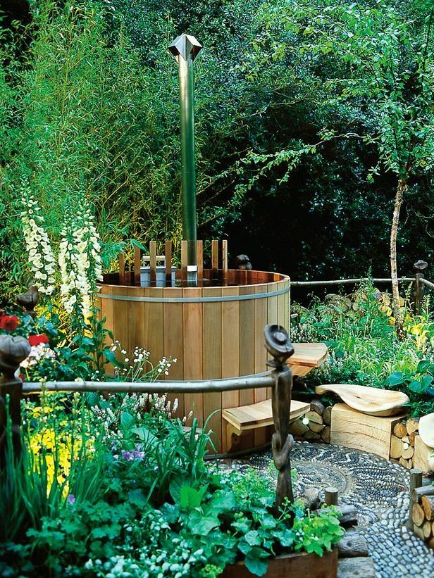garden design ideas hot tubs photo - 4