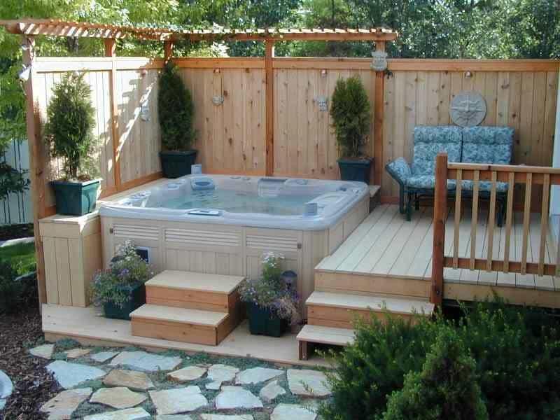 garden design ideas hot tubs photo - 5