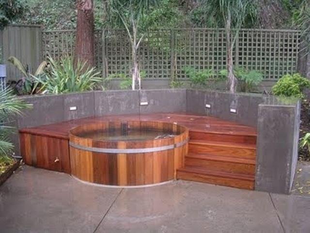 garden design ideas hot tubs photo - 8