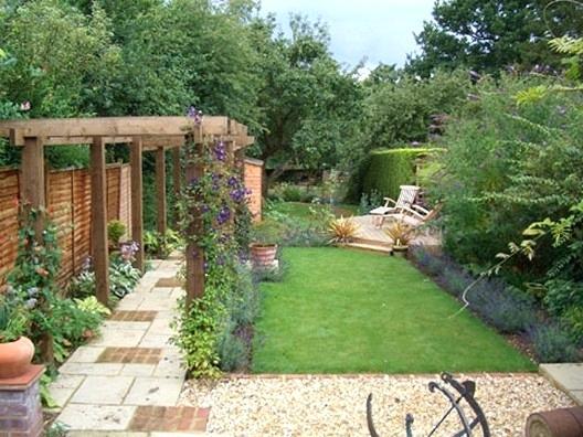 garden design ideas long narrow gardens photo - 9
