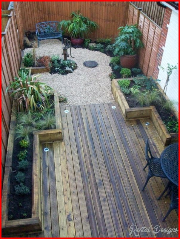 garden design ideas long thin photo - 3