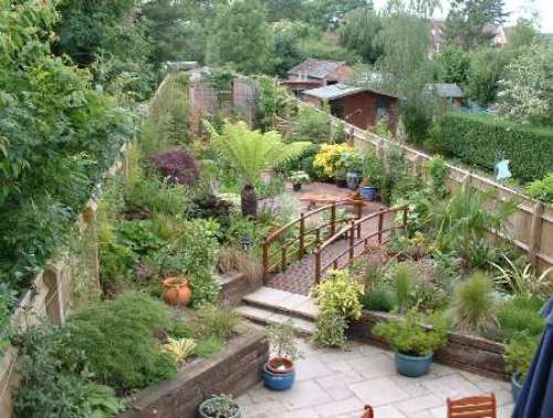 garden design ideas long thin photo - 7