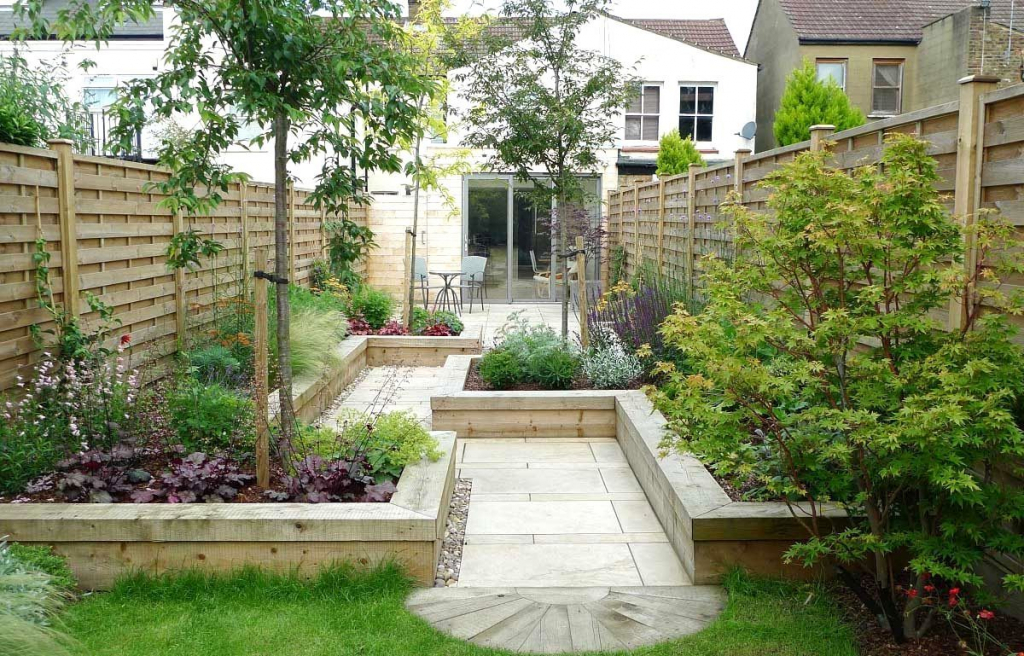 garden design ideas long thin photo - 8