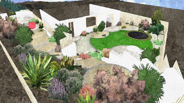 garden design ideas on a slope photo - 3
