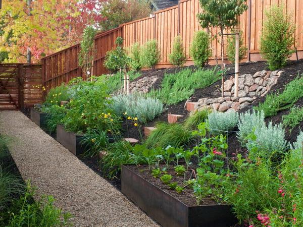 garden design ideas on a slope photo - 4